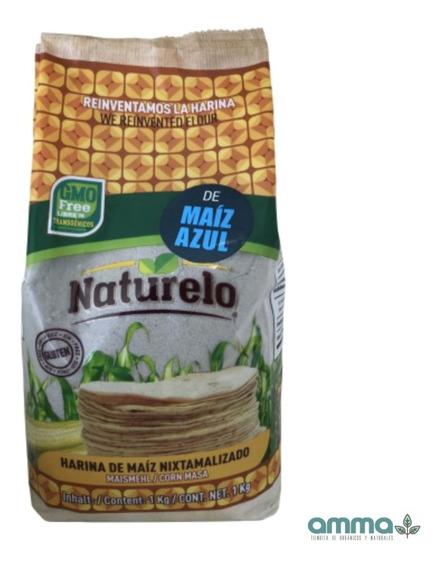 Harina De Maíz Azul Nixtamalizada Naturelo 1 Kg Libre Gluten