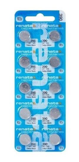 10 Pilhas Baterias 390, Relógio 1.55v Renata Sr1130 Original