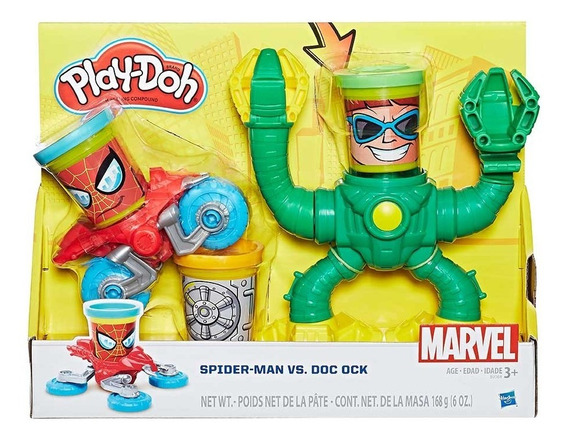 Massinha Spider-man Vs. Doc Ock Play-doh - Hasbro B9364