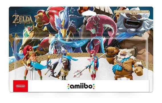 Amiibo Champion Zora Goron Gerudo Rito Legend Of Zelda Pack