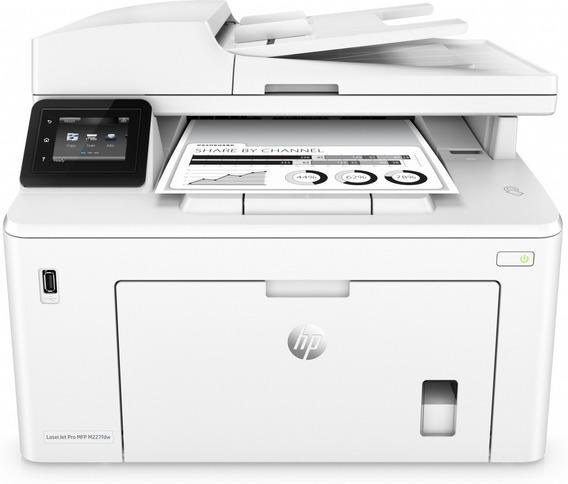 Impresora Laser Multifuncional Hp M227fdw Blanco Y Negro Red