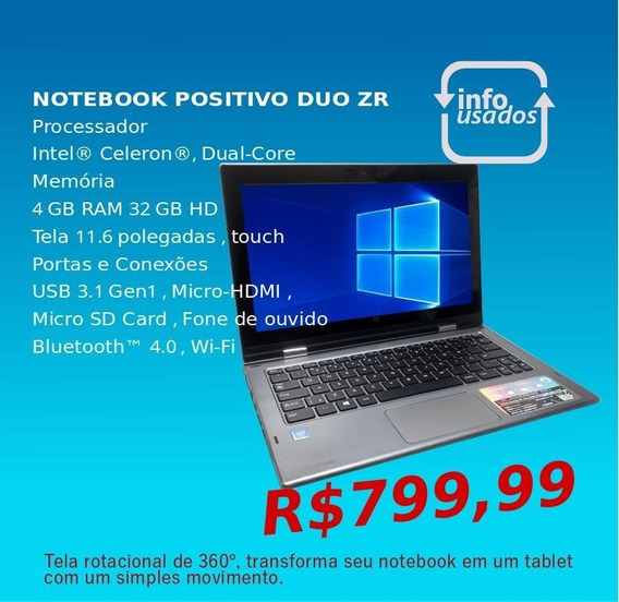 Laptop Positivo Duo Zr