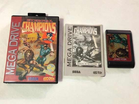 Mega Drive : Eternal Champions Completo Tectoy Cx Manual