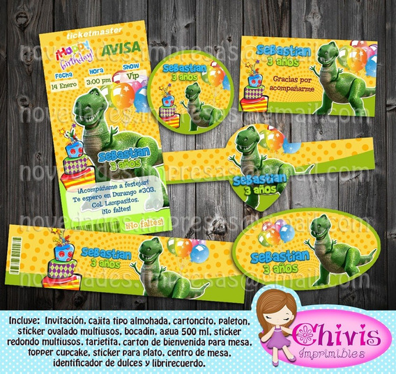 Kit Imprimible Candy Bar Toy Story