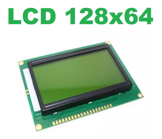 Display Lcd Gráfico 128x64 Com Backlight Verde