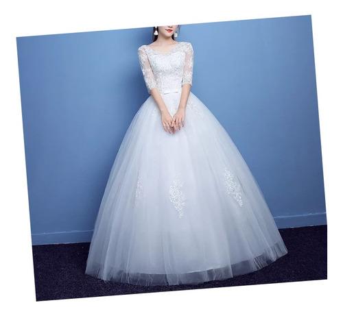 Vestido De Novia Princesa Blanco Nuevo Envío Gratis
