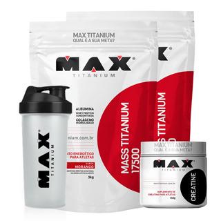 Kit Hulk Hipertrofia Ganho Massa Muscular Max Titanium Sabor