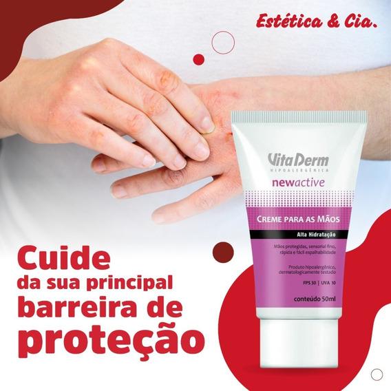 Creme Para Mãos New Active Vita Derm Fps30 Toque Seco