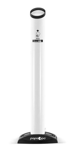 Lixeira Copo Descartável Dispenser Tubo Com Base Compacto