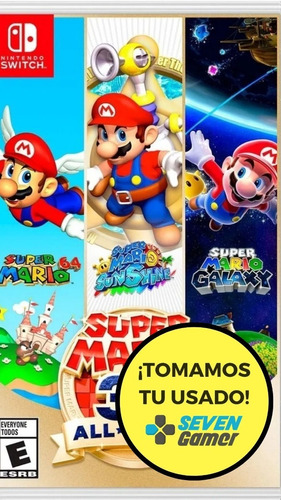 Super Mario 3d All Stars Nintendo Switch Juego Fisico Nuevo