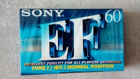 Fita Sony Ef 60 Audio Cassette Lavrada - Raro