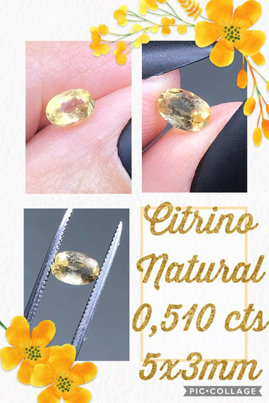 Citrino 0 510 Cts Oval Natural 5x3 Mm A