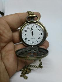 Reloj De Bolsillo Con Cadena Cuello Metalica Varios Diseños