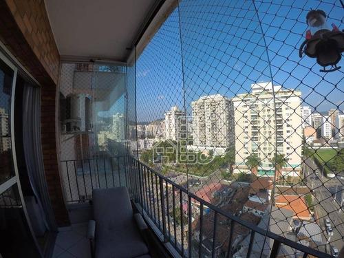 Apartamento Com 2 Dormitórios À Venda, 121 M² Por R$ 725.000,00 - Icaraí - Niterói/rj - Ap3375