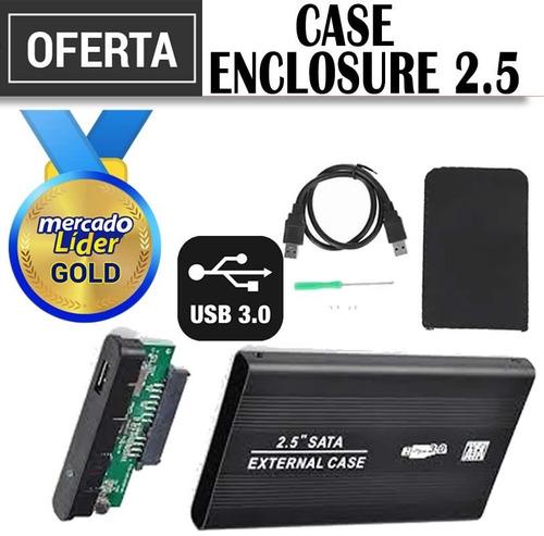Case Enclosure Disco Duro 2.5 Sata Usb 3.0 Gratis Estuche