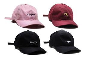 Boné Dad Hat Aba Curva Strapback Várias Cores
