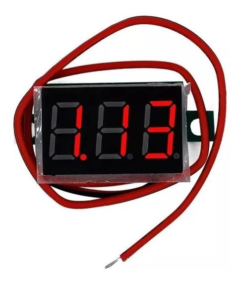 Mini Voltímetro Digital Led Vermelho (10 Und)