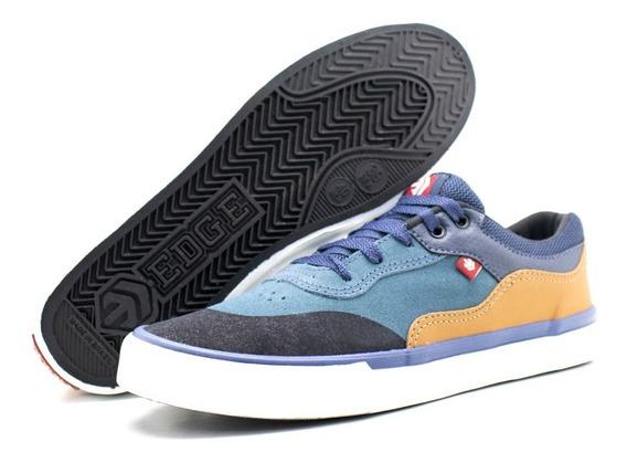 Tênis Edge Footwear Wave - Petróleo/camel