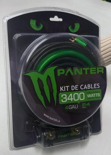 Kit De Cables 4g   3400watts   Panter P4