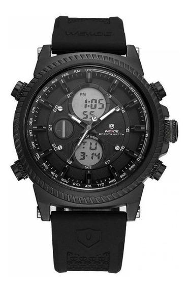 Relógio Masculino Weide Wh-6403 Preto - Original - Gar 1 Ano