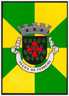 Cartão - Brasão Município De Paços De Ferreira / Portugal