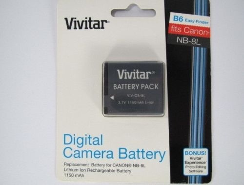 Bateria Vivitar Nb-8l 3.7v 1150mah Para Canon