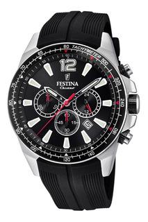 Reloj Festina F20376.2 Crono Acero Caucho Agente Oficial