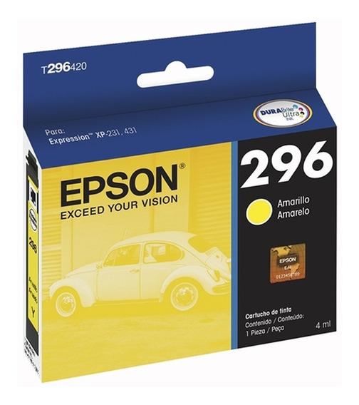 Cartucho Epson 296 T296 Xp231 Xp241 Xp431 Original Com Nota