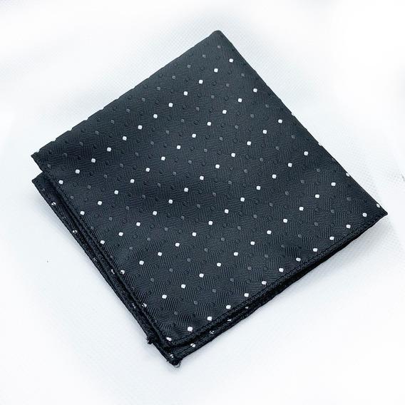Pañuelos De Bolsillo Caballero Seda Poliéster Elegante Negro