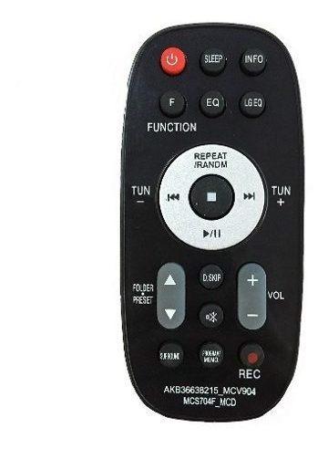 Controle Remoto Som Lg Akb36638214 Mct354 Mcs354f Mcs354w