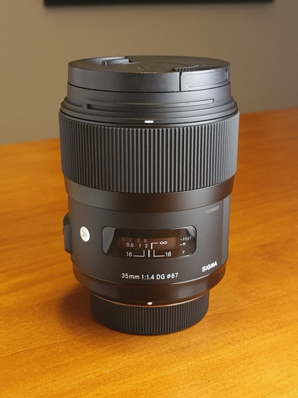 Lente Signa Art 35mm F/1.4 Pra Nikon. Excelente Estado.