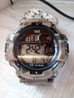 Reloj Q&q By Citizen Camuflado 100m Shock Resistant