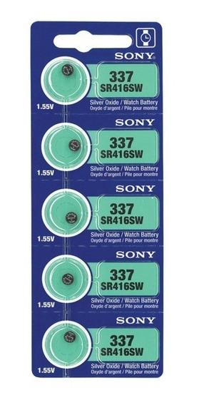Cartela Com 5 Bateria Original 337 Sr416sw 1.55v Sony