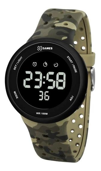 Relógio Pulso X Games Digital Camuflado Verde - Xmppd486