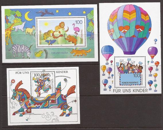 Alemania 1995 Tres Bloques Para Nosotros Los Niños Mint -125
