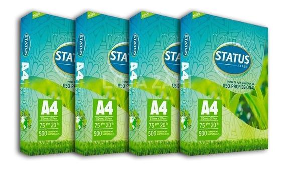 Papel Sulfite A4 Status 4 Pacotes 2000 Folhas Atacado