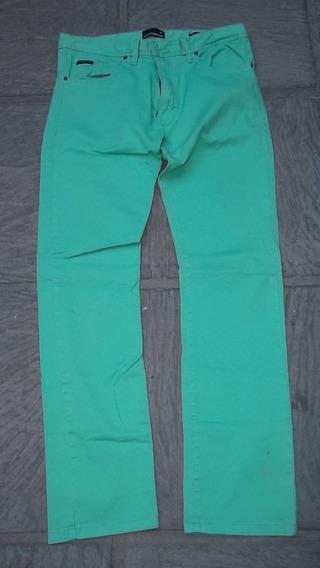 Pantalón De Hombre Color Verde Agua Talle 40 Kevingston