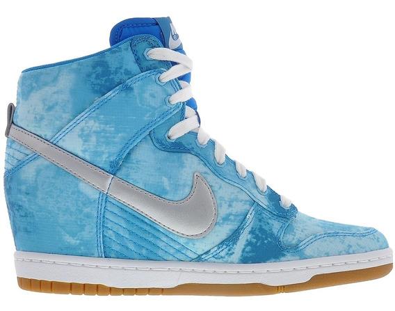 Tênis Nike Wmns Dunk Sky Hi Print Blue