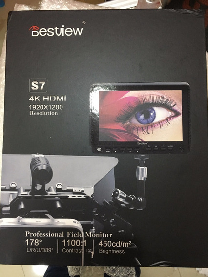 Monitor Lcd S7 1920*1200 4k 7 Hdmi + Bat Np-f550 Canon Niko