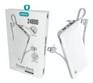 Bateria Portátil Gigante 24800mah Micro Usb Lightning Tipo-c