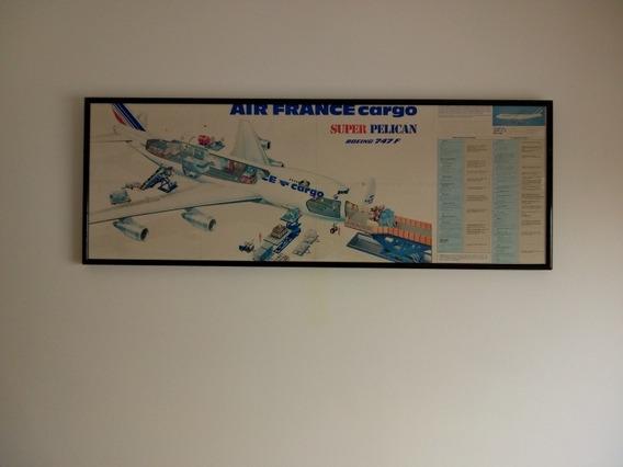 Póster Air France Super Pelican Boeing 747