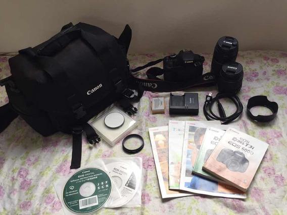 Câmera Fotográfica Canon Eos Rebel T3i 600 D Semi-nova