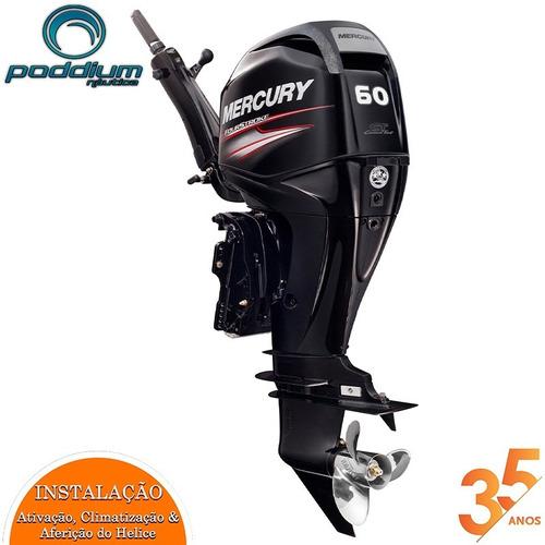 Motor De Popa Mercury 60 Hp 4 Tempos Elhpt Efi Ct Mid Tiller