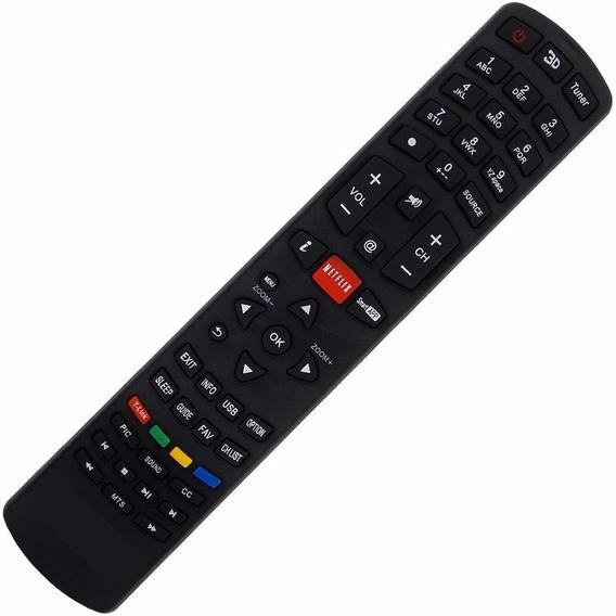 Controle Remoto Tv Philco Rc3100l03 Com Tecla Botão Netflix