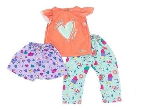 Imagen 1 de 7 de Witty Girls Pijama Candy Ropa Muñecas 45 Cm/18 PuLG