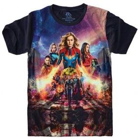 Camiseta Super Heróis Vingadores Capitã Marvel