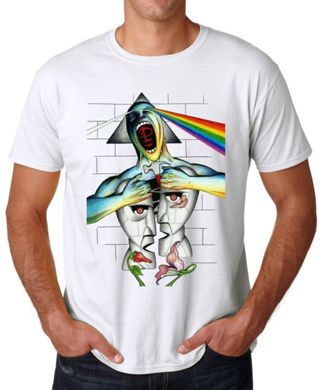 Remera Pink Floyd Musica Rock The Wall Arte Colores