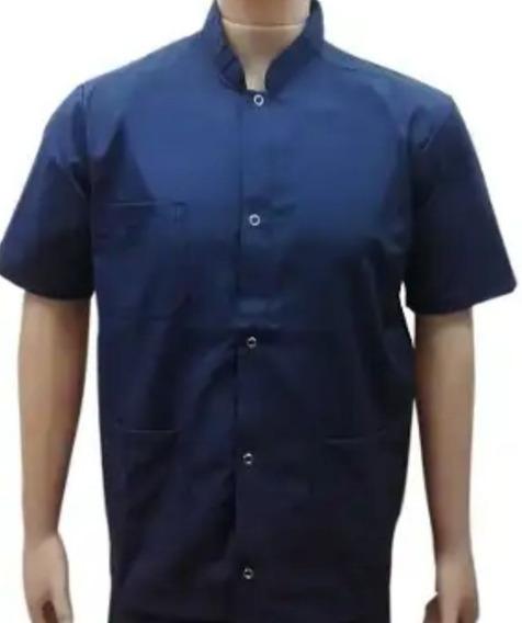Chaquetas Mao Cortas Color Azul Broches Metalico