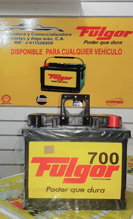 Acumuladores Para Carro (baterías Fulgor) Tienda Física