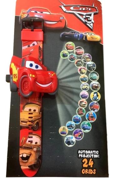 Relógio Carros Corrida Projetor De Luz 24 Imagens Infantil